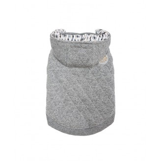 DOGWEAR | Grey Quilted Hoodie