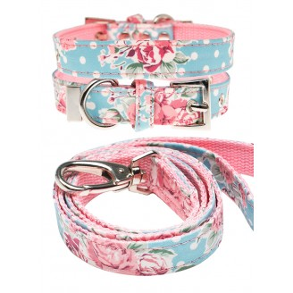 URBAN PUP | Vintage Rose Collar & Lead Set