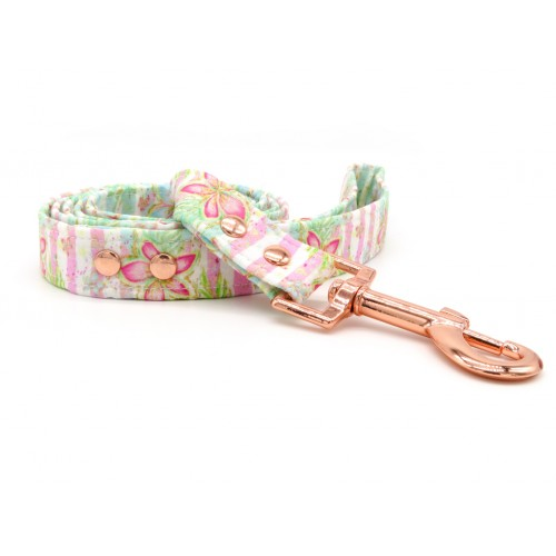 PRETTY POOCHES | Hawaiian Floral Stripes Lead