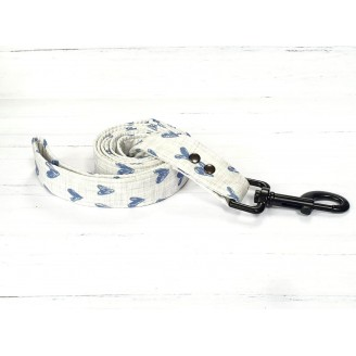 PRETTY POOCHES | Navy Hearts Lead